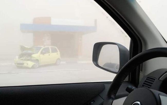 Пылевая буря привела к ряду ДТП в Житомирской области
