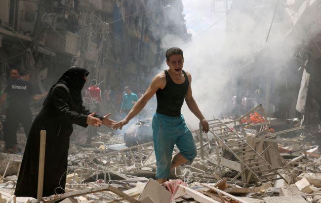 Авиаудары поАлеппо забрали  неменее  50 жизней мирного населения