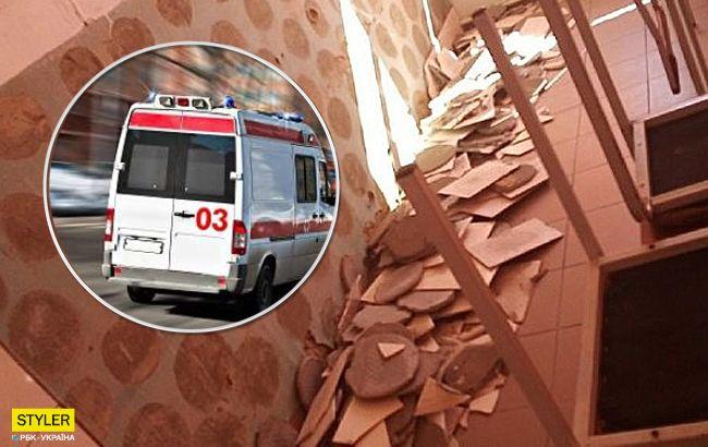 На школяра обрушилася плитка: деталі події під Києвом