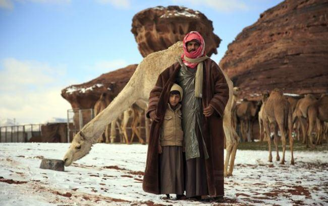 Фото: Сніг в Саудівській Аравії (Kazpravda.kz)