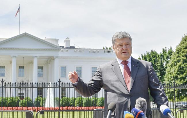Порошенко: США навсе 100% поддерживают санкции противРФ