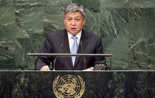 Фото: міністр закордонних справ Киргизстану Ерлан Абдилдаєв