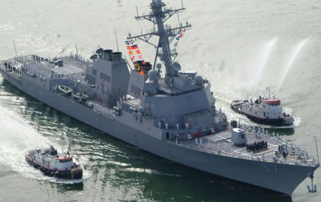 Фото: американский эсминец Mason