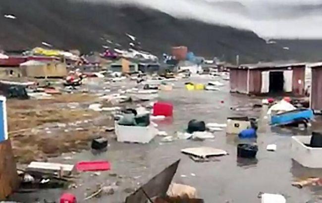 Фото: последствия цунами в Гренландии (ekstrabladet.dk)