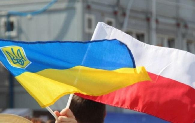 Фото: український і польський прапори