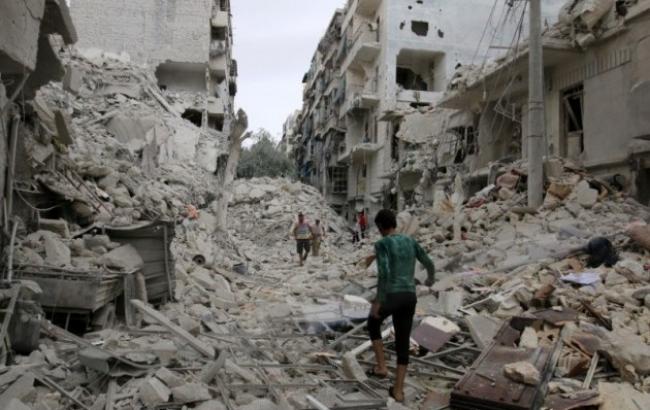 Фото: руйнування в Алеппо