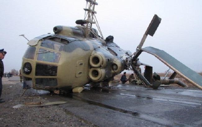 Фото: авария вертолета Ми-8 на Ямале
