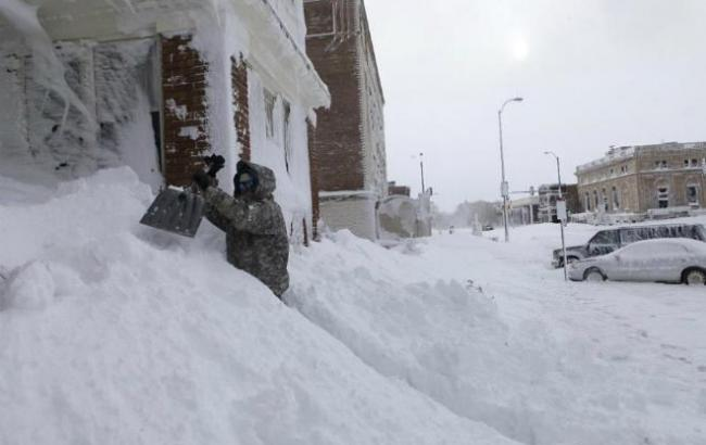 Фото: снігопад у США