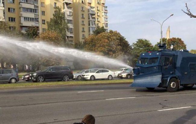 В Минске водометами разогнали протестующих