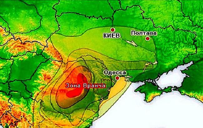 Фото: эпицентр землетрясения в горах Вранча