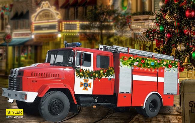 Фото: Пожарная машина (Коллаж РБК-Украина)