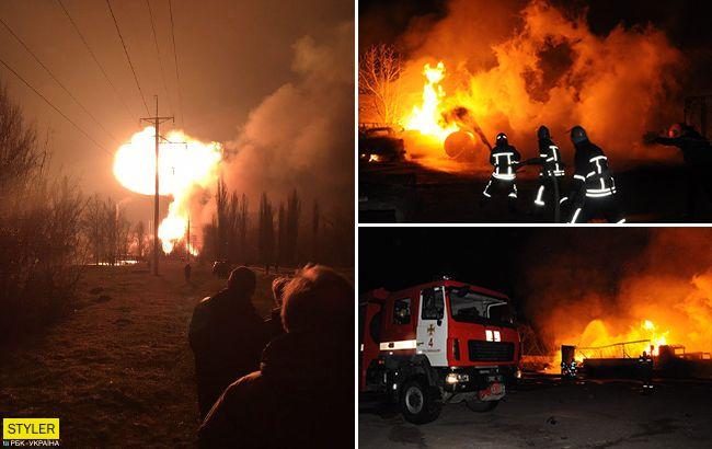 Взрывы в Кропивницком: новые кадры жуткого пожара (фото, видео)