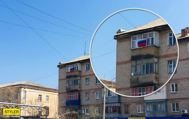 У Запорізькій області влаштували ходу з прапором окупанта