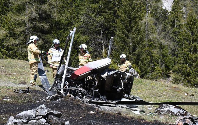 Личный вертолёт потерпел крушение вавстрийском Тироле