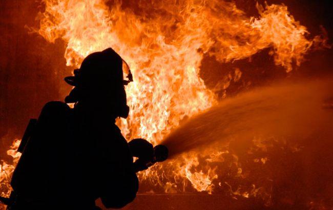 Фото: пожарные на протяжении получаса тушили возгорание