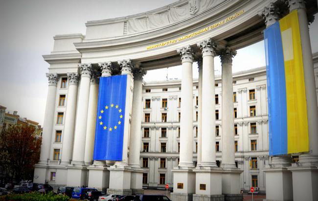 МИД Украины выражает протест всвязи собстрелом самолета ВМС ВСУ