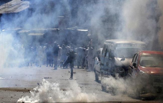 Фото: беспорядки в Кашмире (Индия)