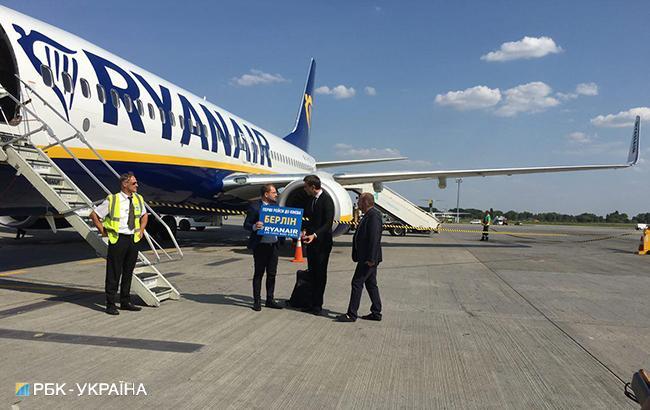 """Фото: отправка первого рейса Ryanair из """"Борисполя"""" (РБК-Украина)"""