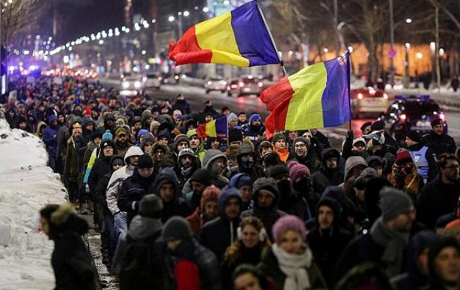 Фото: протести в Румунії