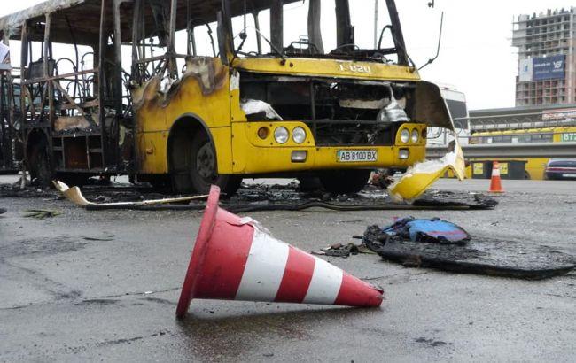 У Києві на ходу загорілася маршрутка