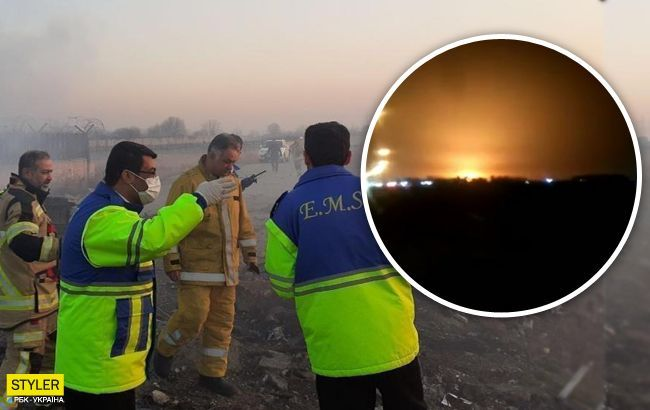 З'явилося відео з можливим попаданням ракети в літак МАУ в Ірані