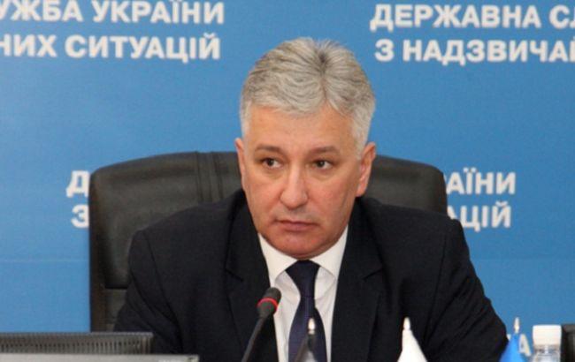 Фото: председатель ГСЧС Украины Николай Чечеткин