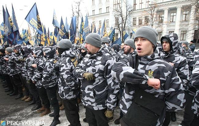 Под АП проходит акция с требованием разорвать дипотношения и договора с РФ