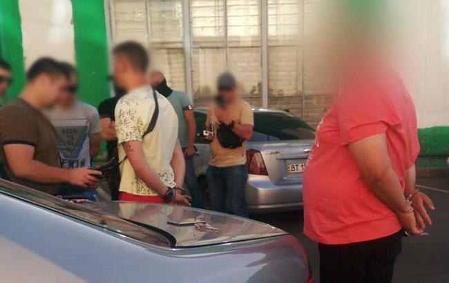 Фото: задержание злоумышленников (npu.gov.ua)