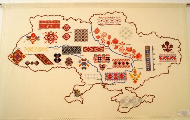 Фото: Вишита карта України (radiosvoboda.org)