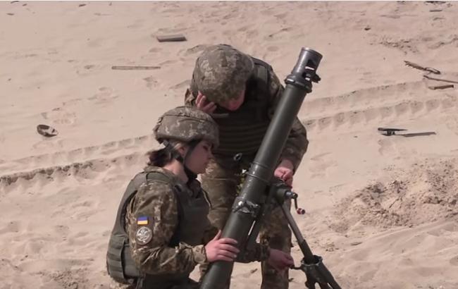 Женщины-военные (Кадр из видео/youtube.com/Військове телебачення України)