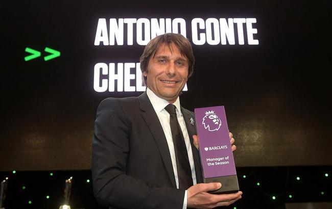 Конте признан лучшим тренером сезона вАПЛ поверсии лиги