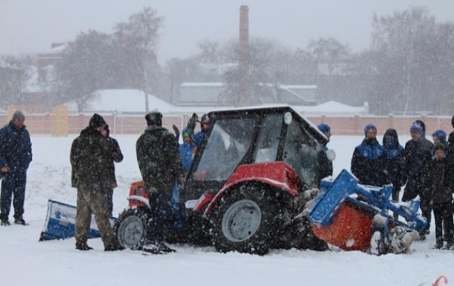 Фото: Пострадавший трактор (ye.ua)
