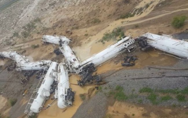 Фото: авария поезда в Австралии