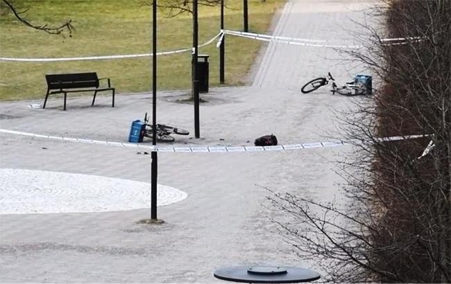 Фото: взрыв в Стокгольме (video screenshot)