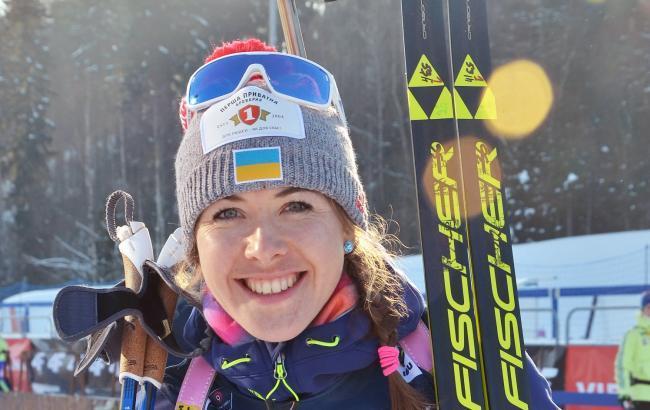 Биатлонистка Джима выиграла первую золотую медаль в карьере