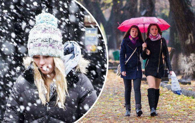 На Украину надвигается настоящая зима с мокрым снегом