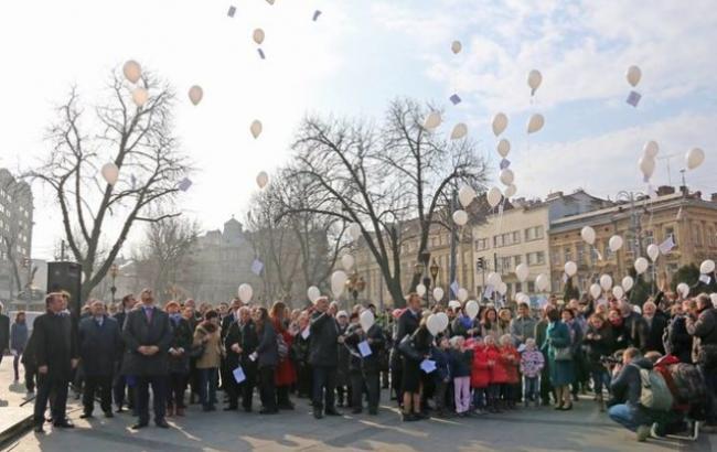 Фото: Святкування дня народження Шевченка у Львові