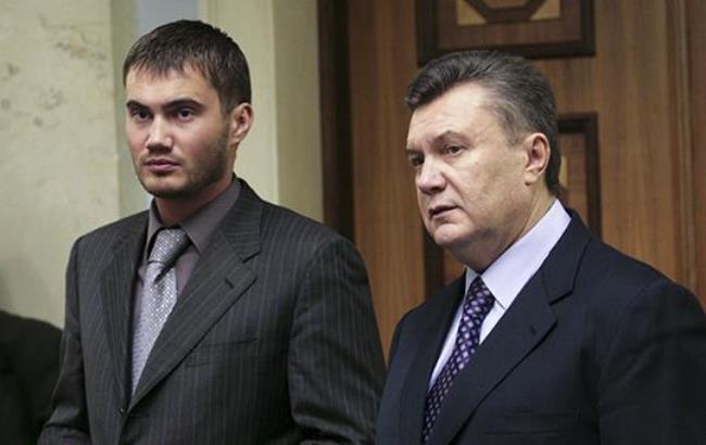 Фото: Янукович и его сын (pravda-tv.ru)