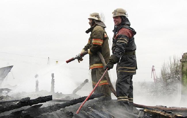 Фото: пожар в Киевской области