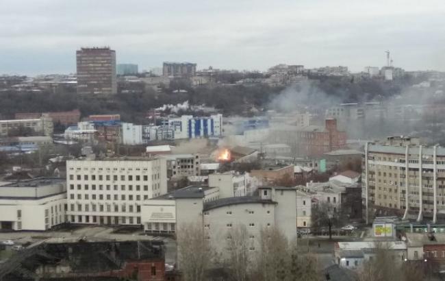 Фото: пожар в Харькове