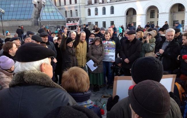 Фото: акция в память Немцова в Киеве (Громадське ТБ)