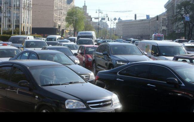 У Києві через аварії утворилися затори