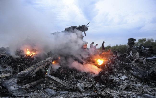 Фото: катастрофа MH-17 на Донбассе