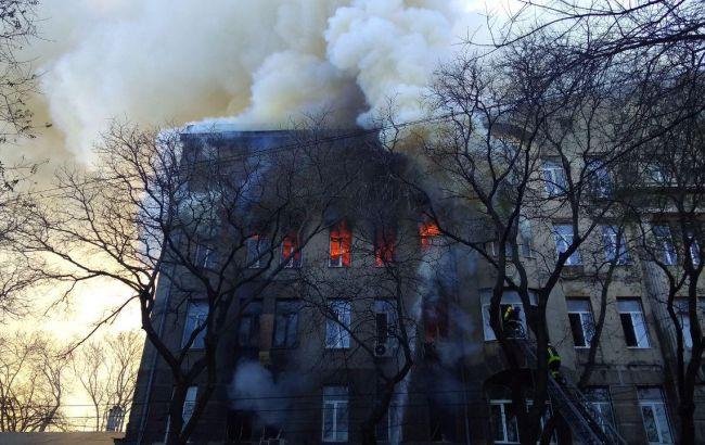 Пожар и эвакуация в колледже: что происходит в Одессе