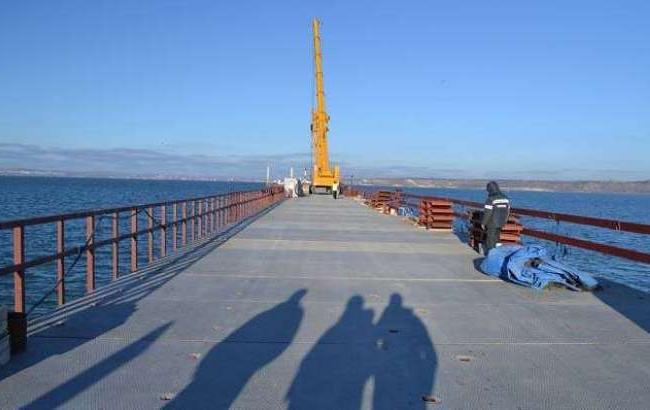 Фото: Недостроенный Керченский мост