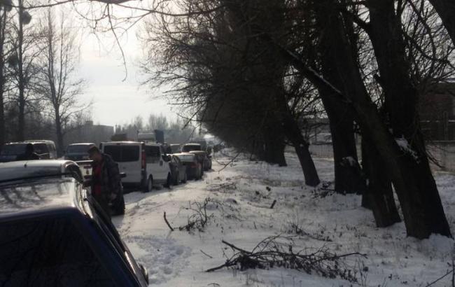 Фото: забастовка горняков во Львовской области