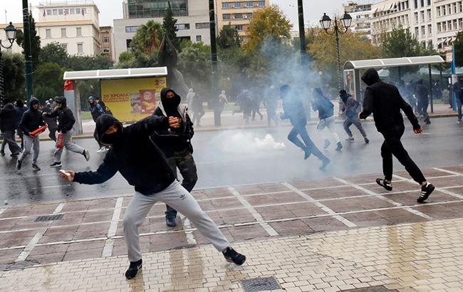 Сутички з поліцією в Греції: поліція затримала 118 протестувальників