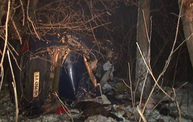 Натрассе вХарьковской области перевернулся Вольво, 6 человек погибли