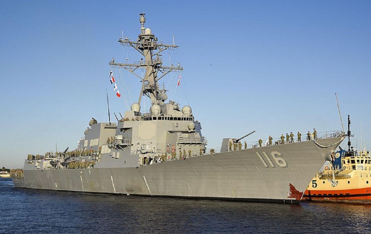 Два ракетных эсминца США направляются в Черное море