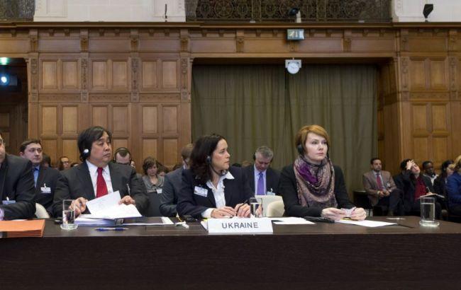Фото: українська делегація в Міжнародному суді ООН